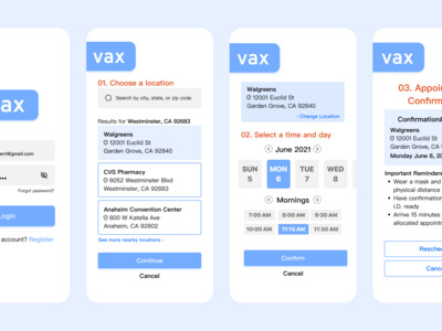Vax is a mobile application...