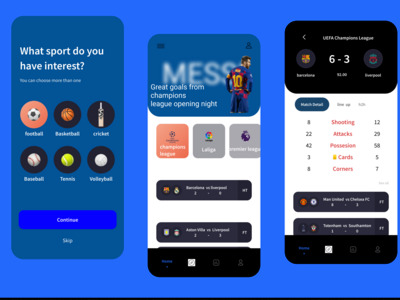 This is a sports app ui des...