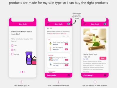 A skin care app which first...