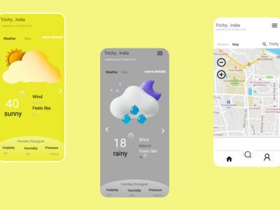This is a weather app ui de...