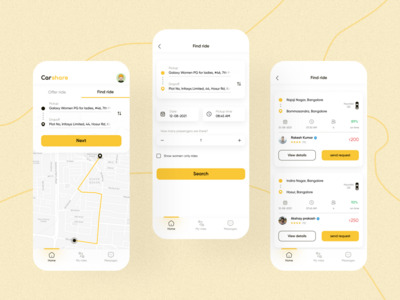 a carpooling app where one ...