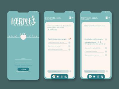 You can login in Hermes app...