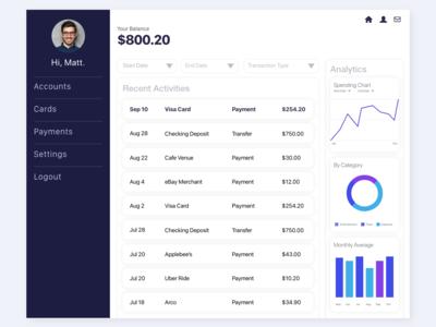 Online Banking Dashboard