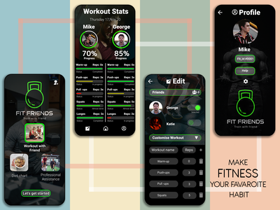 Fit Friends is personalized...