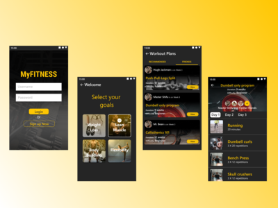 A Workout app which allows ...