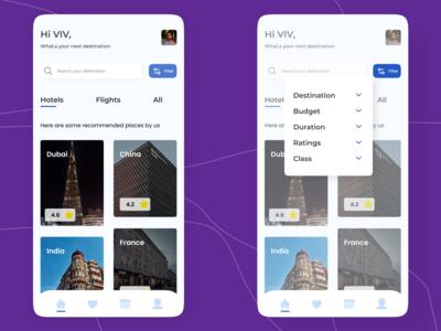 Trip app UI with modern UI ...