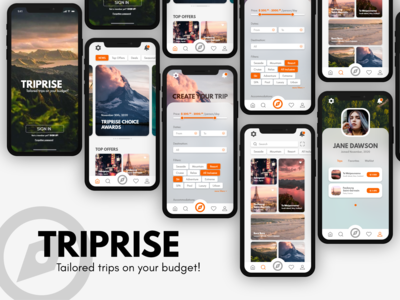 The mobile app design for T...