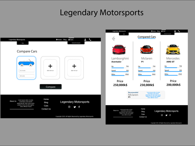 Simple web design to compar...