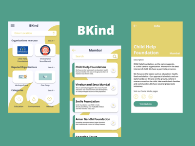Bkind lets user search orga...