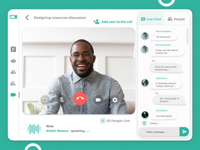 A Trendy video chat UI with...
