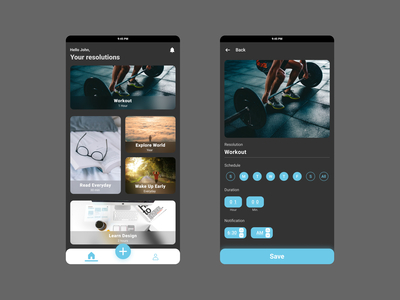 Resolutions app design to h...