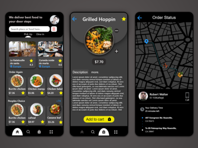 A simple food delivery app ...