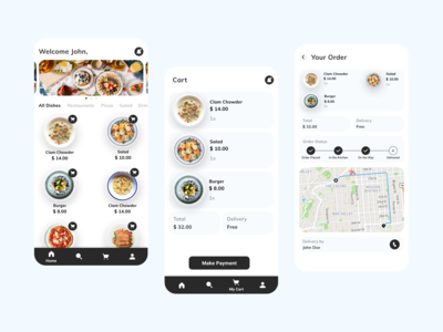 Food delivery app to order ...