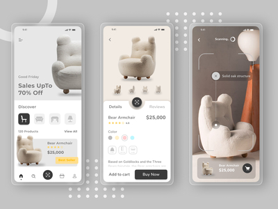 Furniture Ecommerce App usi...