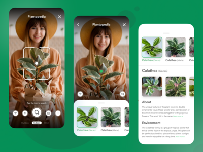 The app lets you scan plant...