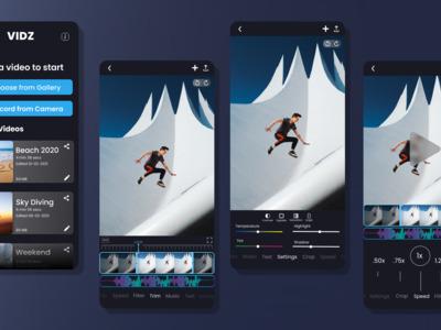 VIDZ app UI has been design...