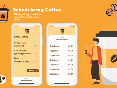 With ScheduleMyCoffee you c...